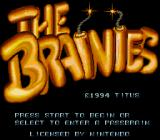 The Brainies SNES Title screen