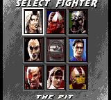 Mortal Kombat 3 Game Gear Selecting your fighter