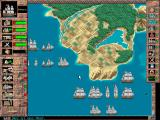 Admiral: Sea Battles Windows Choosing an island to build a fort (grid deactivated) (640x480)