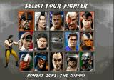 Mortal Kombat 3 Genesis Selecting your fighter