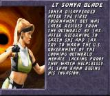 Mortal Kombat 3 SNES Introducing Sonya
