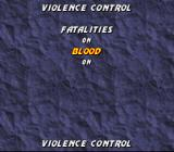 Mortal Kombat 3 SNES Violence control options