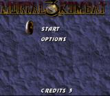 Mortal Kombat 3 SNES Main menu