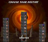 Mortal Kombat 3 SNES Choosing your level