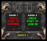 Mortal Kombat II SNES Continue screen