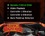 The Dukes of Hazzard: Racing for Home PlayStation Game Settings.
