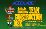 4th & Inches Team Construction Disk Amiga Title screen