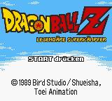 Dragon Ball Z: Legendary Super Warriors Game Boy Color German title screen.