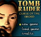 Lara Croft: Tomb Raider - Curse of the Sword Game Boy Color Title screen