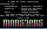 Monsters Commodore 64 Title screen