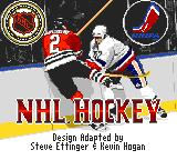 NHL 95 Game Gear Title screen