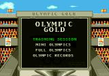 Olympic Gold: Barcelona '92 Genesis Title screen and main menu