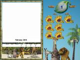 Dreamworks Madagascar: Paint & Create Windows This is the calendar option shown before the player accesses the drawing tools. It starts with the current month but this can be changed to other months or a full year