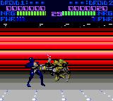 Rise of the Robots Game Gear Fighting a yellow guy
