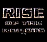 Rise of the Robots Game Gear Title screen
