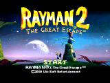 Rayman 2: The Great Escape PlayStation Title Screen