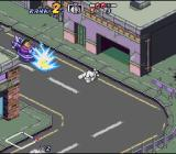 Biker Mice from Mars SNES Getting zapped