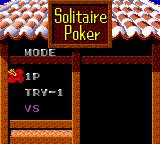 Solitaire Poker Game Gear Main menu