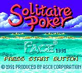 Solitaire Poker Game Gear Title screen