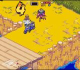 Biker Mice from Mars SNES Trying to push your way through.