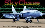 SkyChase DOS Title