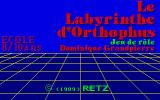 Le Labyrinthe d'Orthophus Atari ST Title screen