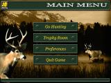 On the Trail of the Whitetail Windows Main menu