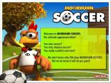 Crazy Chicken: Soccer Windows Title screen: Focus Multimedia release