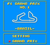 Super Monaco GP Game Gear Grand prix mode