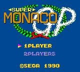 Super Monaco GP Game Gear Title screen