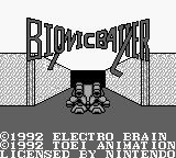 Bionic Battler Game Boy Bionic Battler title screen