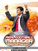 Real Football: Manager Edition 2009 J2ME Title screen