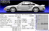 The Duel: Test Drive II DOS Select Your Car - Porsche