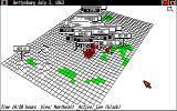 UMS: The Universal Military Simulator Amiga The red marks show where armies have engaged.