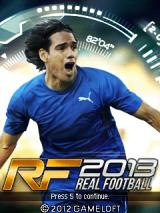 Real Football 2013 J2ME Title screen (SE K800i version)