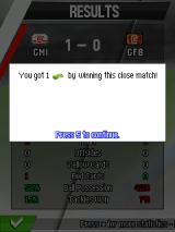 Real Football 2013 J2ME Earning cash by winning a game (SE K800i version)