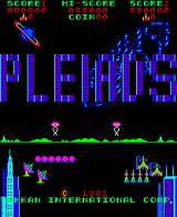 Pleiades Arcade Title Screen
