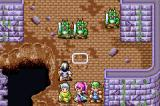 Shining Force: Resurrection of the Dark Dragon Game Boy Advance A battle begins.