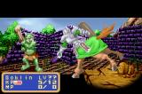 Shining Force: Resurrection of the Dark Dragon Game Boy Advance Ken attacking a Goblin - Knights are very usefull because they are good at close-combat but also can perform ranged attacks.