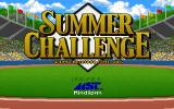 The Games: Summer Challenge DOS Title screen