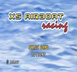 XS Airboat Racing PlayStation Title screen.