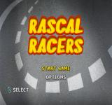 Rascal Racers PlayStation Title screen.
