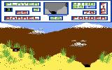 Artillery Duel Commodore 64 A game in progress