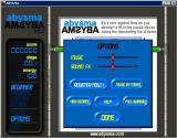 Abysma Windows The game configuration options<br>'Music By Moko' is a link to the composer's site<br>Help just runs through the game tutorial<br>Registration opens a window for the player to enter their unlock key