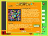 Super Bounce Out! Windows Help screen 1: Full screen mode <br><br>Trial version