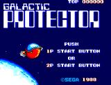 Galactic Protector SEGA Master System Title