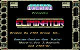 Eliminator Amiga Title screen.