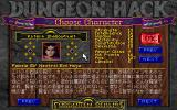 Dungeon Hack PC-98 Choosing a character