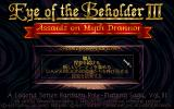 Eye of the Beholder III: Assault on Myth Drannor PC-98 Main menu