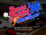 Bases Loaded '96: Double Header PlayStation Title screen.